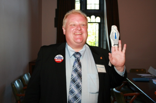 The Mayor of Toronto, Rob Ford, Playing with Himself